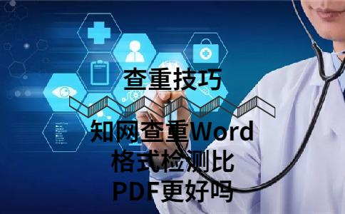 知网查重Word格式检测比PDF更好吗