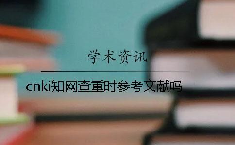 cnki知网查重时参考文献吗